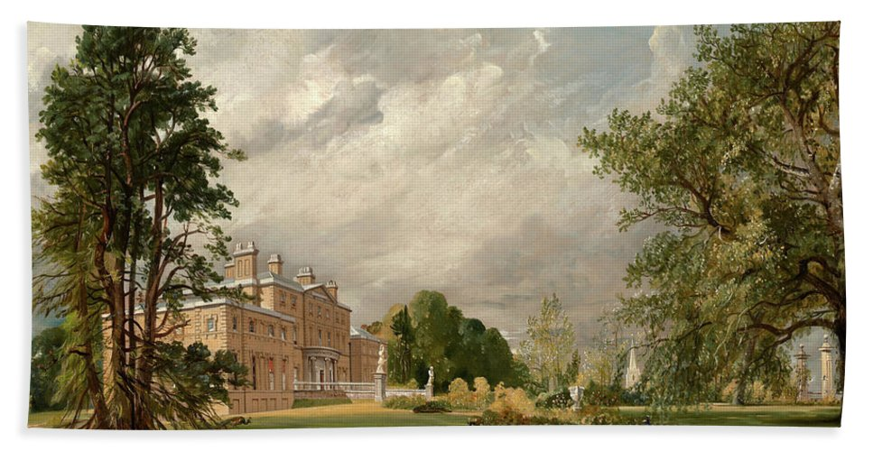 John Constable Hand Towel featuring the painting Malvern Hall, 1821 by John Constable