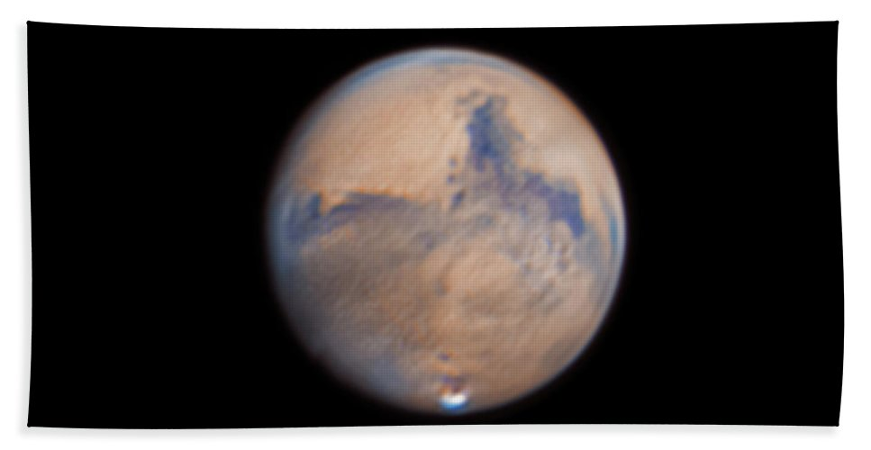 Mars Bath Towel featuring the photograph Mars from 31st October 2020 by Prabhu Astrophotography