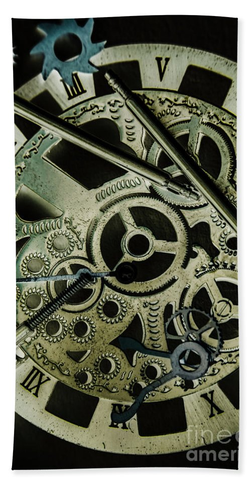Industrial Bath Towel featuring the photograph Metal Metrics by Jorgo Photography - Wall Art Gallery