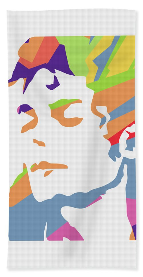 Michael Jackson Bath Towel featuring the digital art Michael Jackson 3 POP ART by Ahmad Nusyirwan