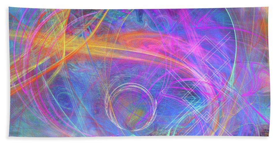 Mystic Beginning Hand Towel featuring the digital art Mystic Beginning by John Robert Beck