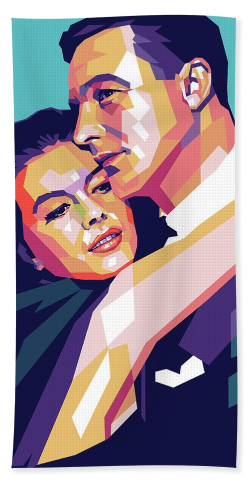 Natalie Bath Towel featuring the digital art Natalie Wood And Gene Kelly by Stars on Art