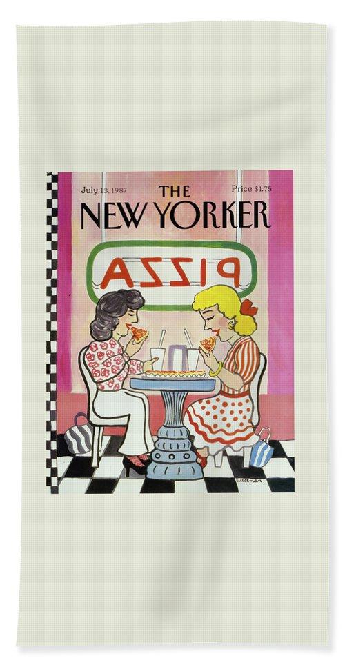 New Yorker July 13, 1987 Bath Sheet