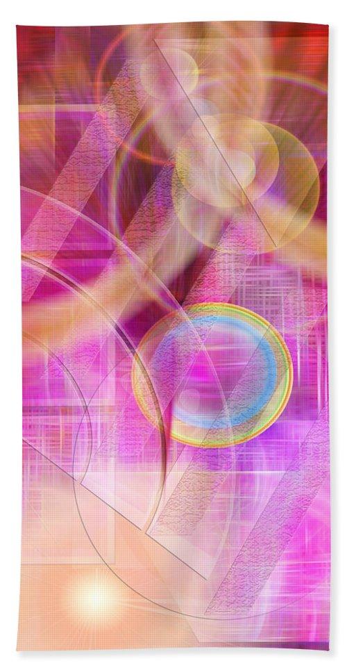 Northern Lights Bath Towel featuring the digital art Northern Lights by John Robert Beck