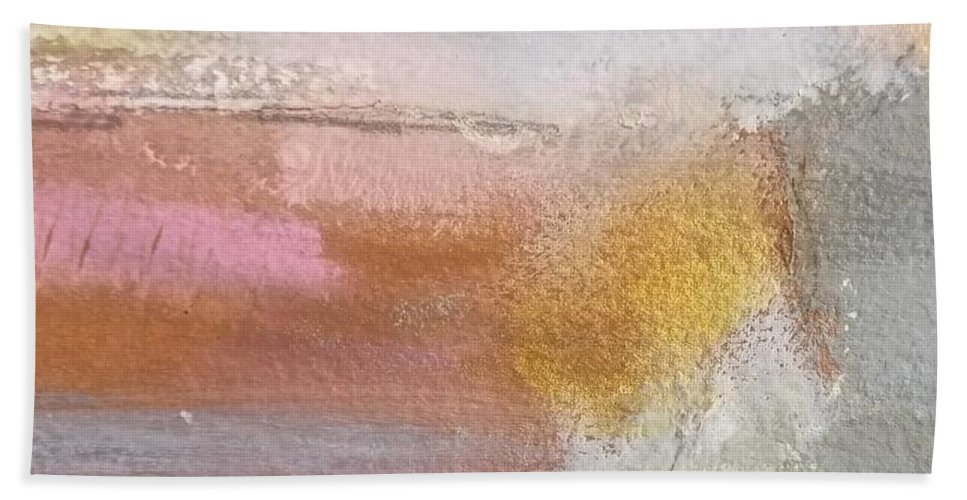 Abstract Bath Towel featuring the painting Nothing Can Dim the Light by Patricia Byron