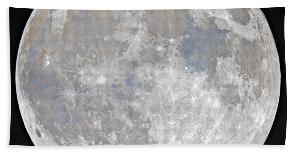Fullmoon Bath Towel featuring the photograph October 2020 Halloween Full/Blue Moon by Prabhu Astrophotography