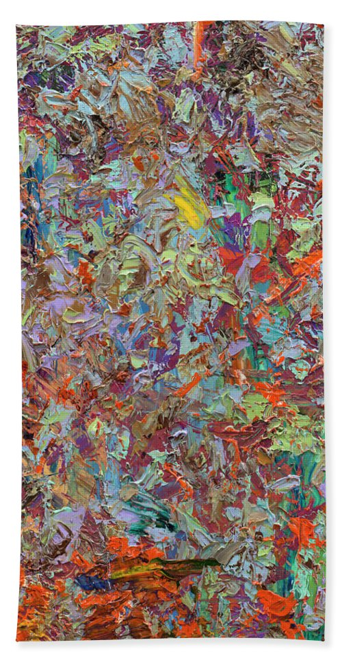 Abstract Bath Towel featuring the painting Paint number 33 by James W Johnson