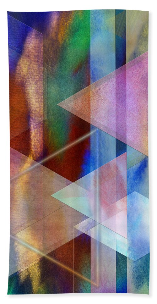 Pastoral Midnight Hand Towel featuring the digital art Pastoral Midnight by John Robert Beck