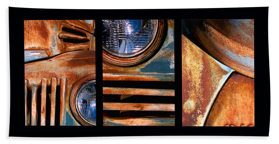 Abstract Hand Towel featuring the photograph Red Head On by Steve Karol