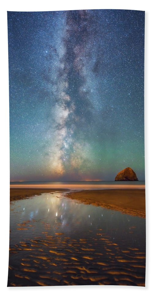 Milky Way Hand Towel featuring the photograph Ripples And Reflections by Darren White