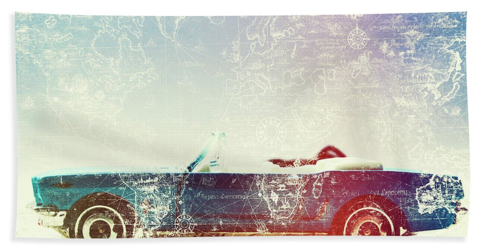 Retro Bath Towel featuring the photograph Rolling Retro by Jorgo Photography - Wall Art Gallery