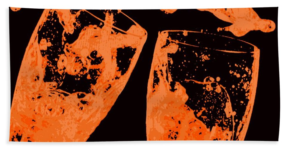 Splash Bath Towel featuring the painting Saturday Suds by Jack Bunds
