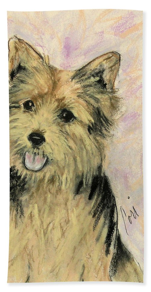Dog Bath Towel featuring the drawing Soulmate by Cori Solomon