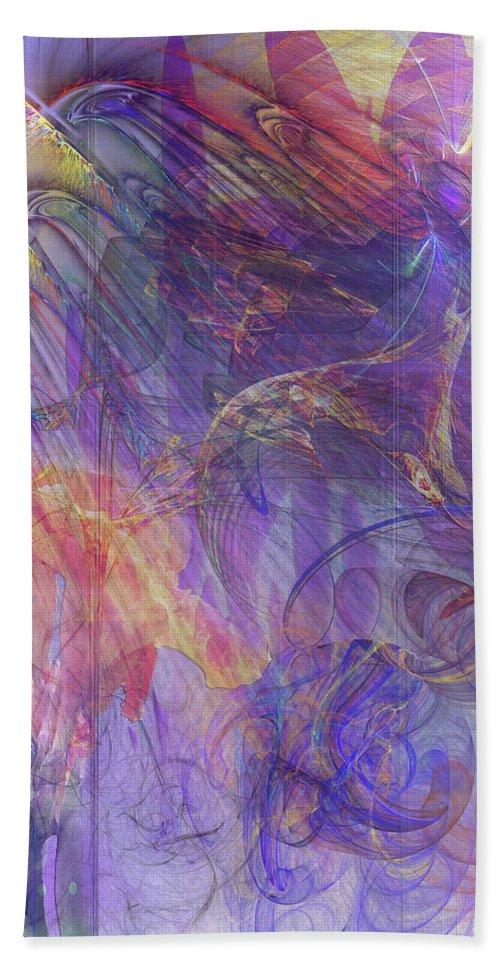 Summer Awakes Hand Towel featuring the digital art Summer Awakes by John Robert Beck