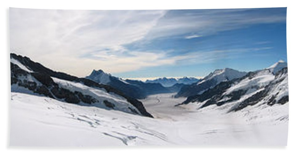 3scape Bath Sheet featuring the photograph Swiss Alps by Adam Romanowicz
