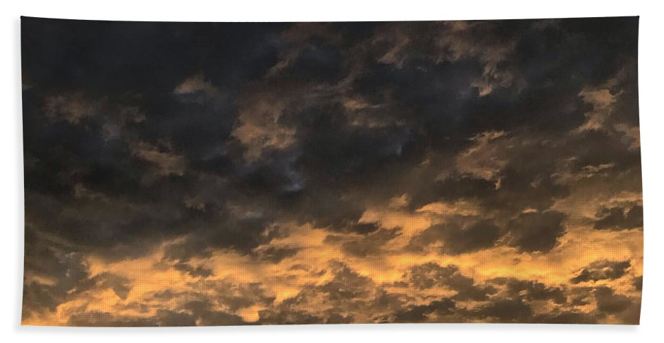 Bath Towel featuring the photograph Texas Storm Clouds by Jose Machin