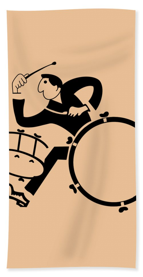 Drum Bath Towel featuring the photograph The Drummer by Mark Rogan