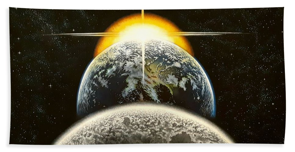 Earth Hand Towel featuring the painting This Is It by Donna L Byers