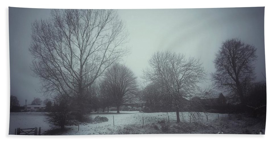 Snow Bath Towel featuring the photograph Trees in the snow 1 by Paul Boizot