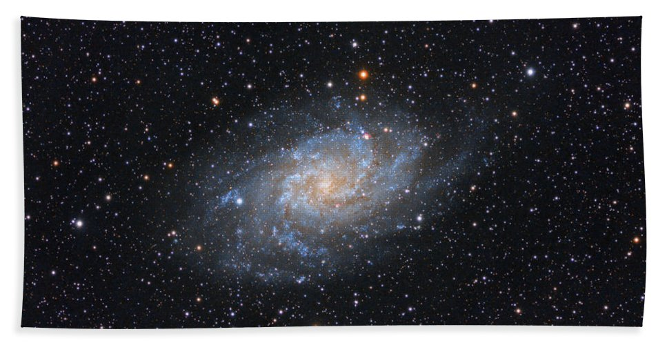 Galaxy Hand Towel featuring the photograph Triangulum Galaxy by Prabhu Astrophotography