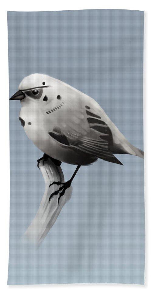 Birds Bath Towel featuring the digital art Trooper Bird by Michael Myers