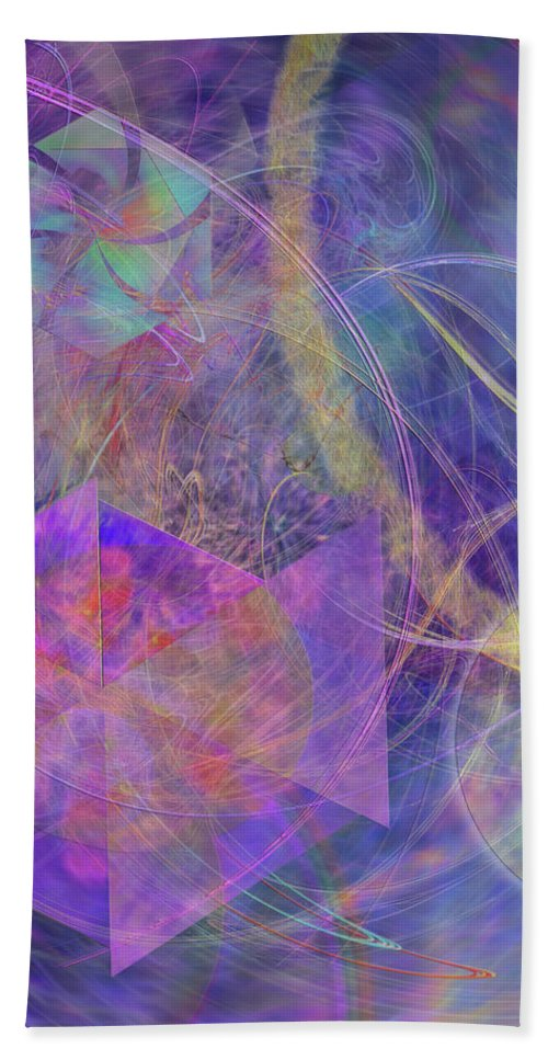 Turbo Blue Hand Towel featuring the digital art Turbo Blue by Studio B Prints