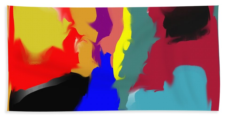Abstract Bath Towel featuring the digital art Two Peas in a Pod by Pharris Art