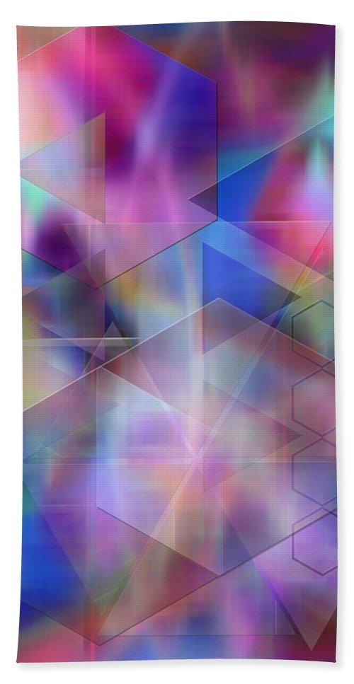 Usonian Dreams Hand Towel featuring the digital art Usonian Dreams by John Robert Beck