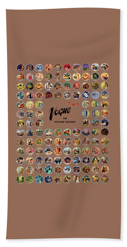 Vogue Picture Record Bath Towel featuring the digital art Complete Vogue Picture Records by John Robert Beck