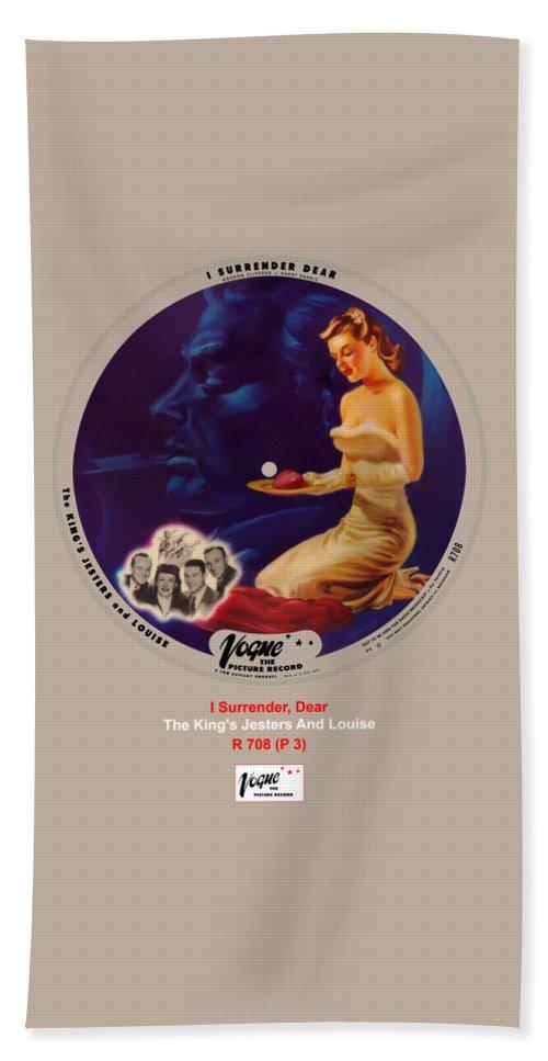 Vogue Picture Record Bath Towel featuring the digital art Vogue Record Art - R 708 - P 3 by John Robert Beck