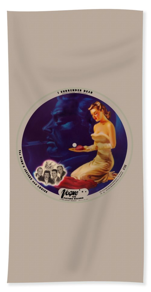 Vogue Picture Record Bath Towel featuring the digital art Vogue Record Art - R 708 - P 3 - Square Version by John Robert Beck