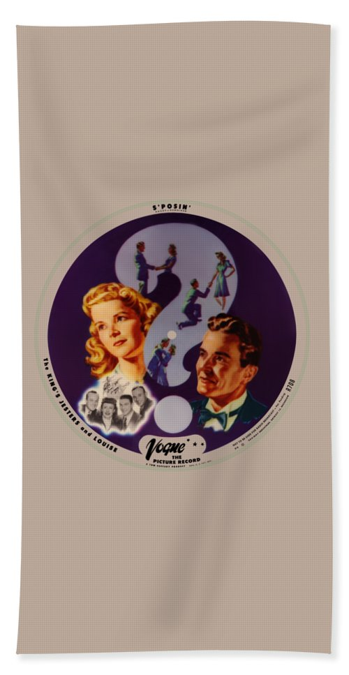 Vogue Picture Record Bath Towel featuring the digital art Vogue Record Art - R 708 - P 4 - Square Version by John Robert Beck