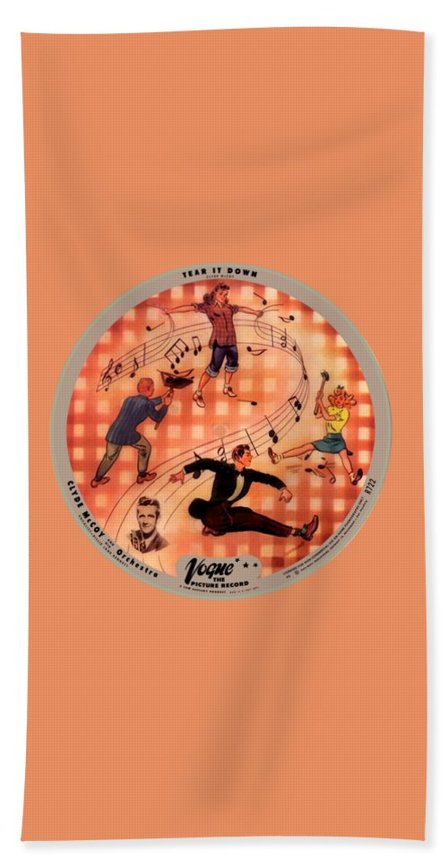 Vogue Picture Record Bath Towel featuring the photograph Vogue Record Art - R 722 - P 6 - Square Version by John Robert Beck