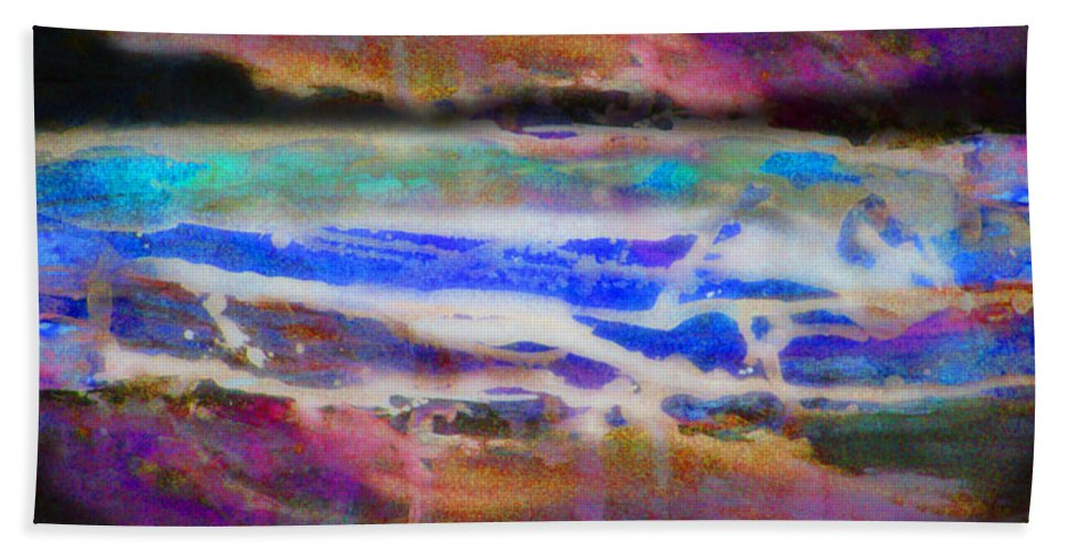 Rick Huotari Hand Towel featuring the painting When the day comes by Rick Huotari
