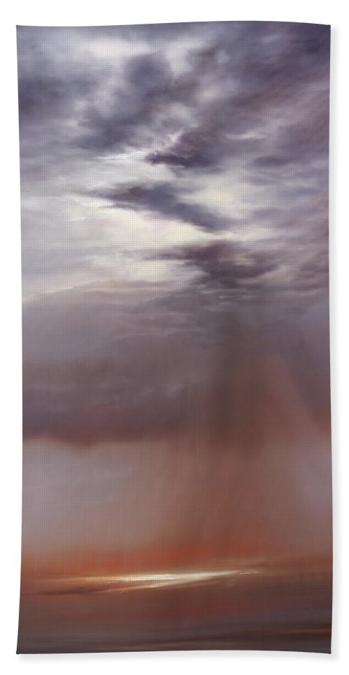 Light Hand Towel featuring the painting Whispering Heart by Cheryl Kline