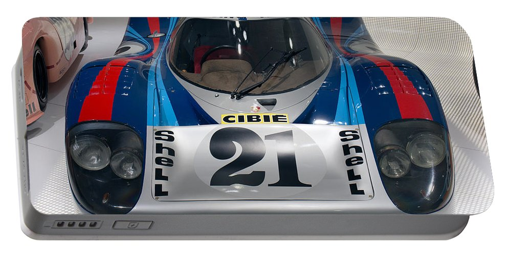 3d Portable Battery Charger featuring the photograph 1971 Porsche 917 Lh Coupe by Paul Fearn