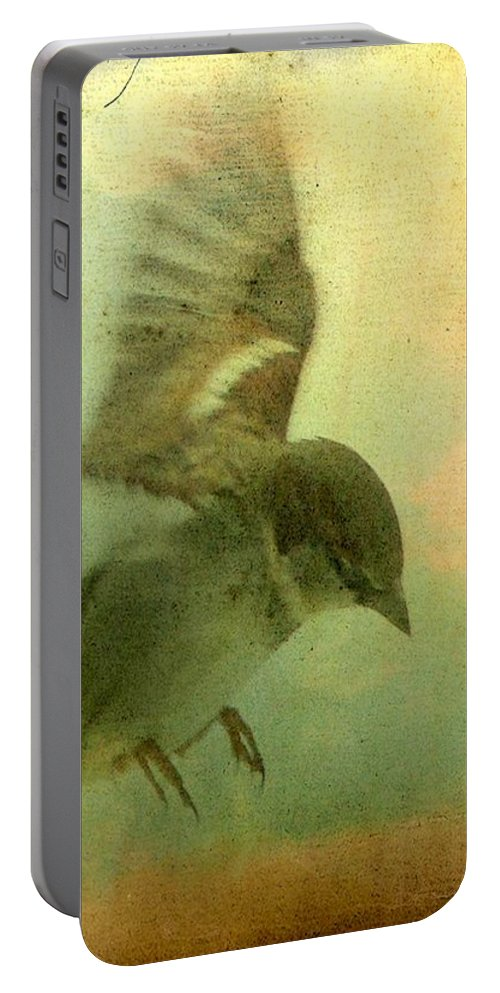 Bird Portable Battery Charger featuring the digital art Amelia's Heart by Gothicrow Images