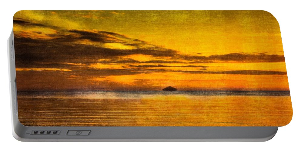 Irvine Portable Battery Charger featuring the photograph Autumn Sunset Over Ailsa Craig by Tylie Duff