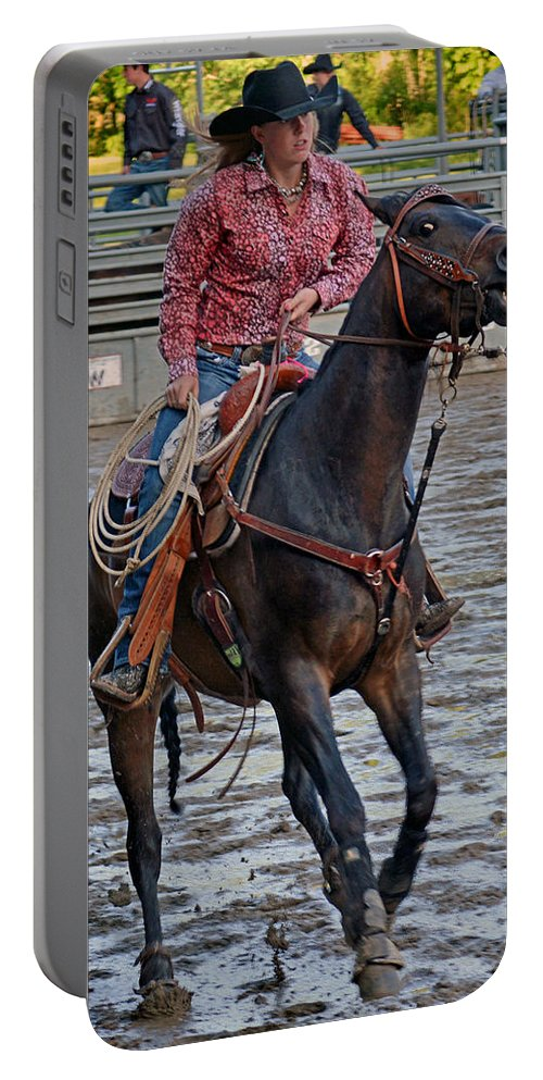 Roping Portable Battery Charger featuring the photograph Breaking Of The String by Gary Keesler