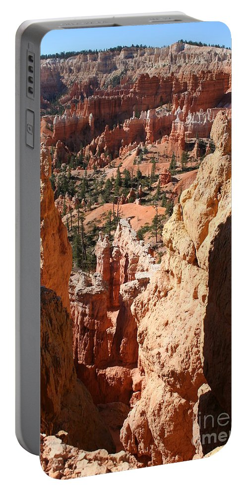 Canyon Portable Battery Charger featuring the photograph Bryce Canyon Overlook by Christiane Schulze Art And Photography