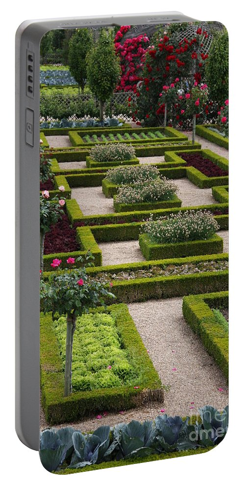 Cabbage Portable Battery Charger featuring the photograph Cabbage Garden Chateau Villandry by Christiane Schulze Art And Photography