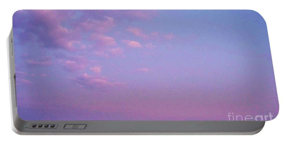 Cape May Point Portable Battery Charger featuring the photograph Cape May Point Lake And Clouds by Eric Schiabor