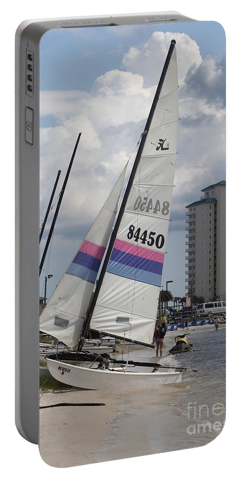 Ft.walton Beach Portable Battery Charger featuring the photograph Catamarans by Michelle Powell