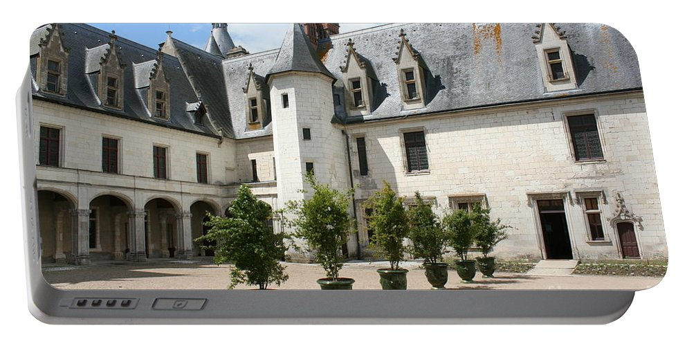 Palace Portable Battery Charger featuring the photograph Courtyard Chateau Chaumont by Christiane Schulze Art And Photography