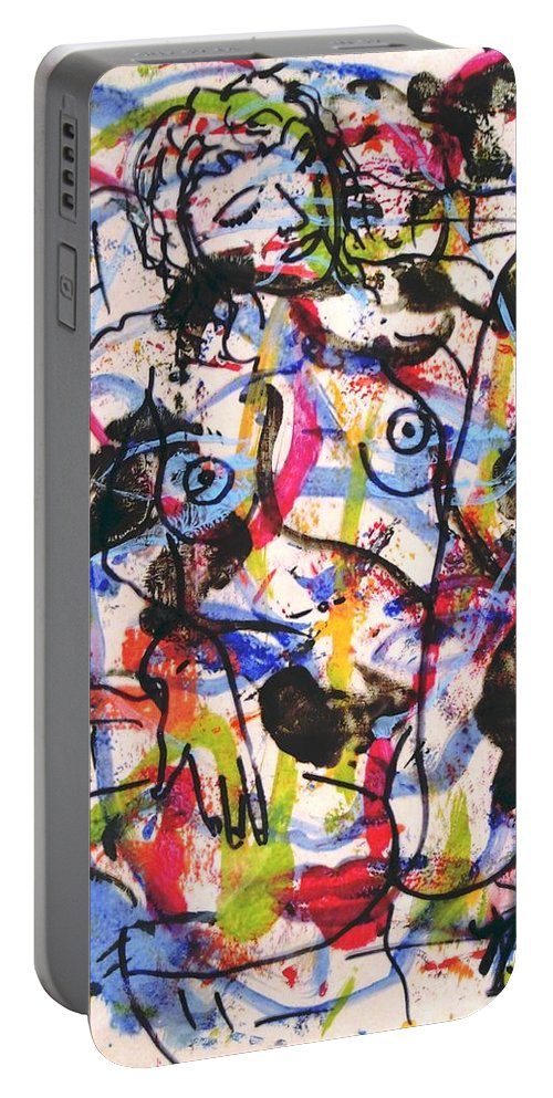 Erotic Portable Battery Charger featuring the painting  Erotic Nude by Natalie Holland