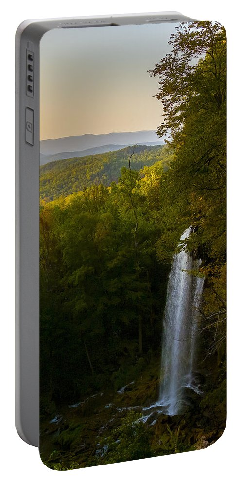 Falling Spring Valley Portable Battery Charger featuring the photograph Falling Spring Falls by Greg Reed