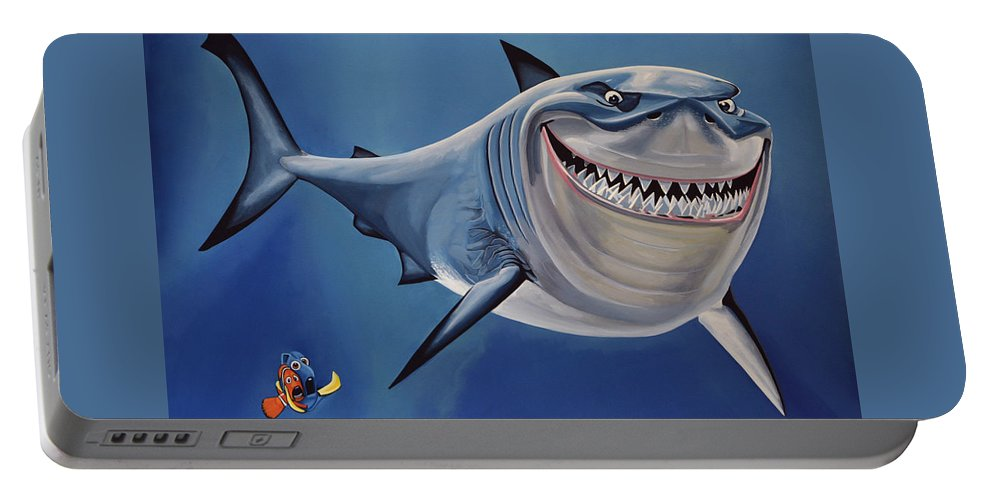 Finding Nemo Portable Battery Charger featuring the painting Finding Nemo Painting by Paul Meijering