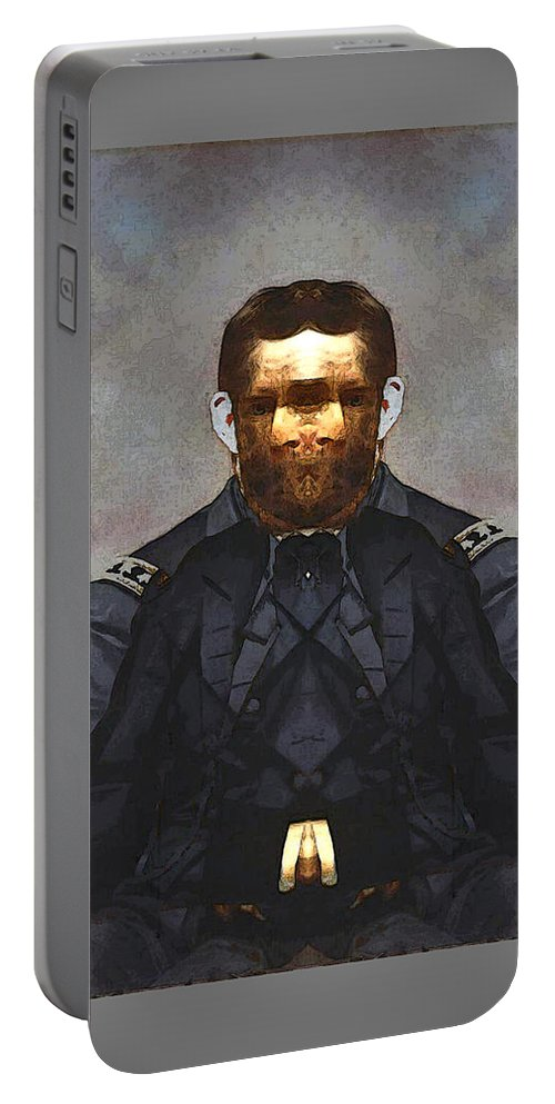 Portable Battery Charger featuring the digital art Gen. Ulysses S. Grant by Zac AlleyWalker Lowing