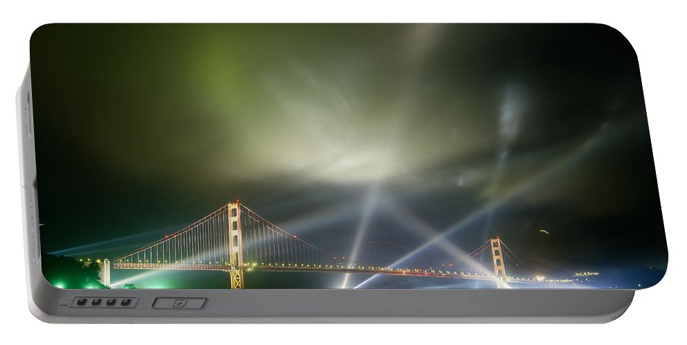 50th Birthday Portable Battery Charger featuring the photograph Golden Gate At Fifty by Tracy Knauer