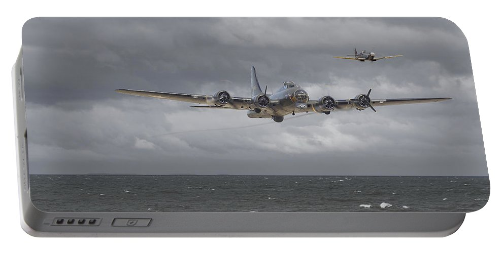 Aircraft Portable Battery Charger featuring the digital art Home The Hard Way by Pat Speirs